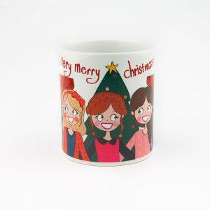 verry merry christmas meisjes mok anne sara