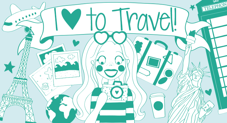 i love to travel producten - Anne Sara