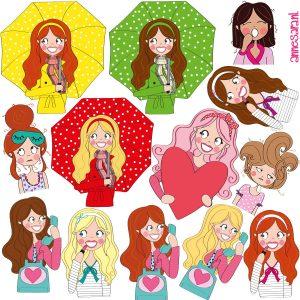 stickers annesara meisjes