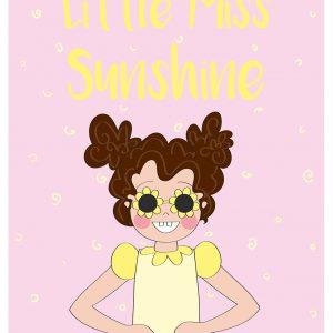 miss sunshine geel roze annesara poster