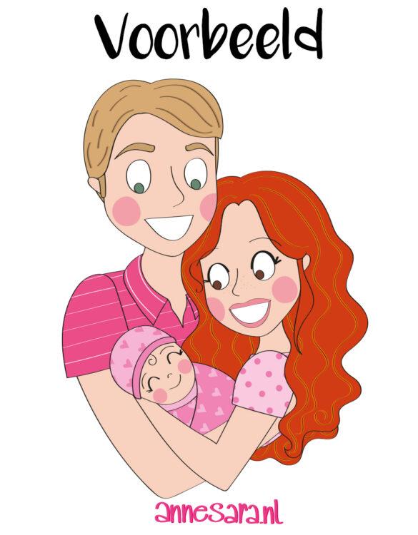 portret gezin baby anne sara