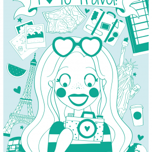 i love to travel a4 poster anne sara