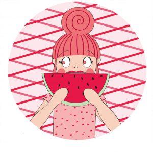 watermeloen roze annesara