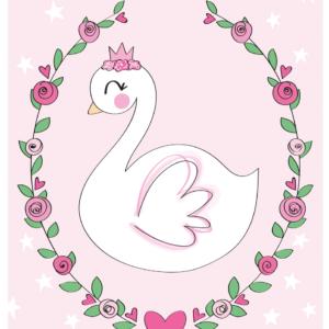 zwaan poster zwaantje baby illustratie kinderkamer meisjeskamer