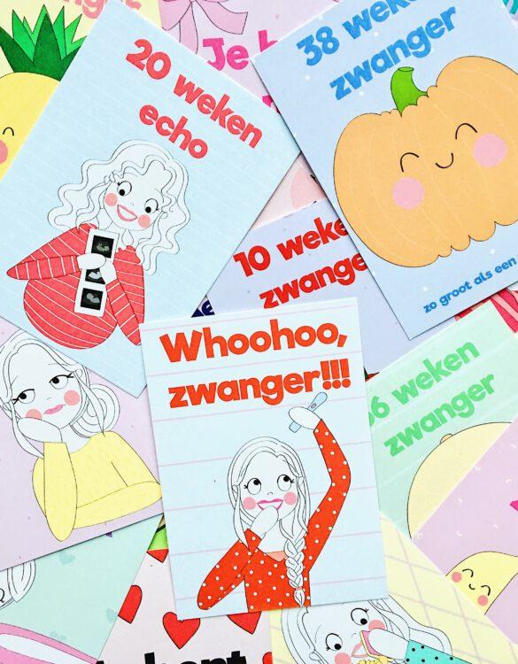 mijlpaal kaarten zwanger