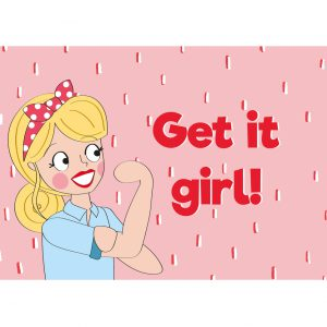 get it girl girlboss kaart