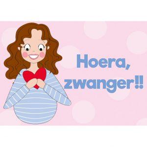 hoera zwanger kaart annesara