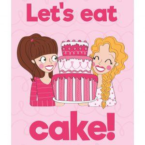 cake verjaardags kaart anne sara roze taart