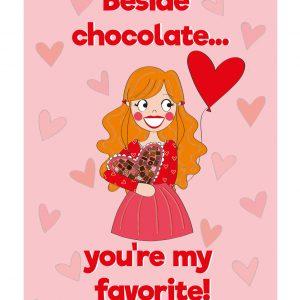 chocolate liefde kaart valentijnskaart annesara