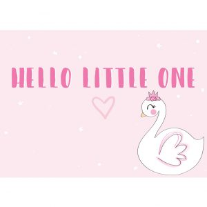 hello little one kaart zwaan annesara