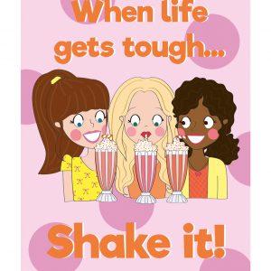 milkshake kaart beterschap sterkte vrolijk anne sara