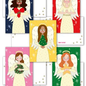 kerst engel set labels