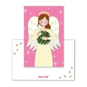 label kerst engel kerstkrans anne sara