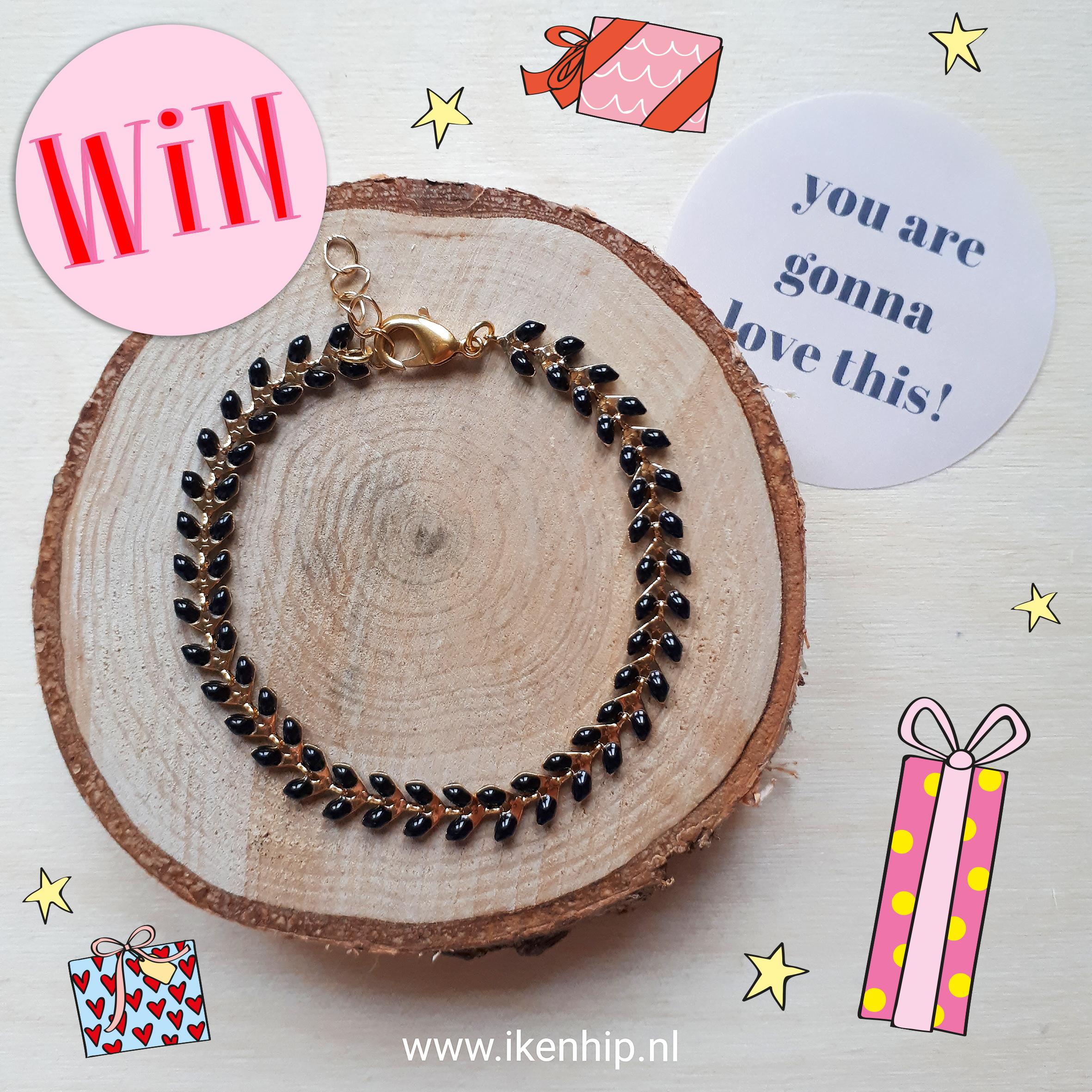 Win een emaille blaadjes armband van Ik&Hip!