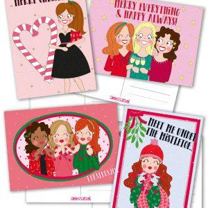 kerst kaarten set anne sara