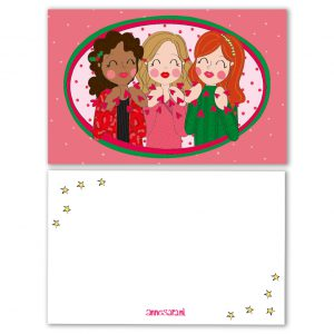 kerstkusjes vriendinnen kerst label kaart