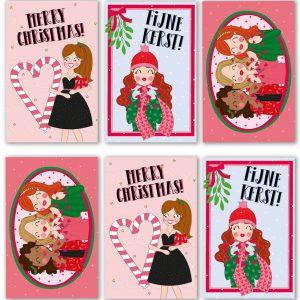 kerst labels mini kaarten anne sara