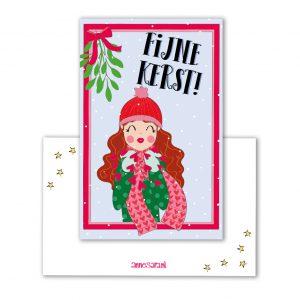 fijne kerst label annesara mini kaart