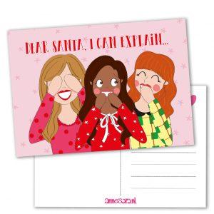dear santa I can explain anne sara kaart kerst