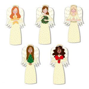kerst engeltjes stickers annesara