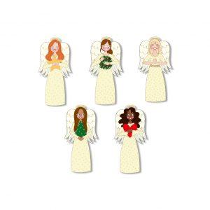 kleine kerst engeltjes stickers annesara