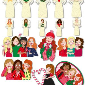 sticker set kerst annesara