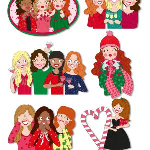 merry christmas stickers kerst