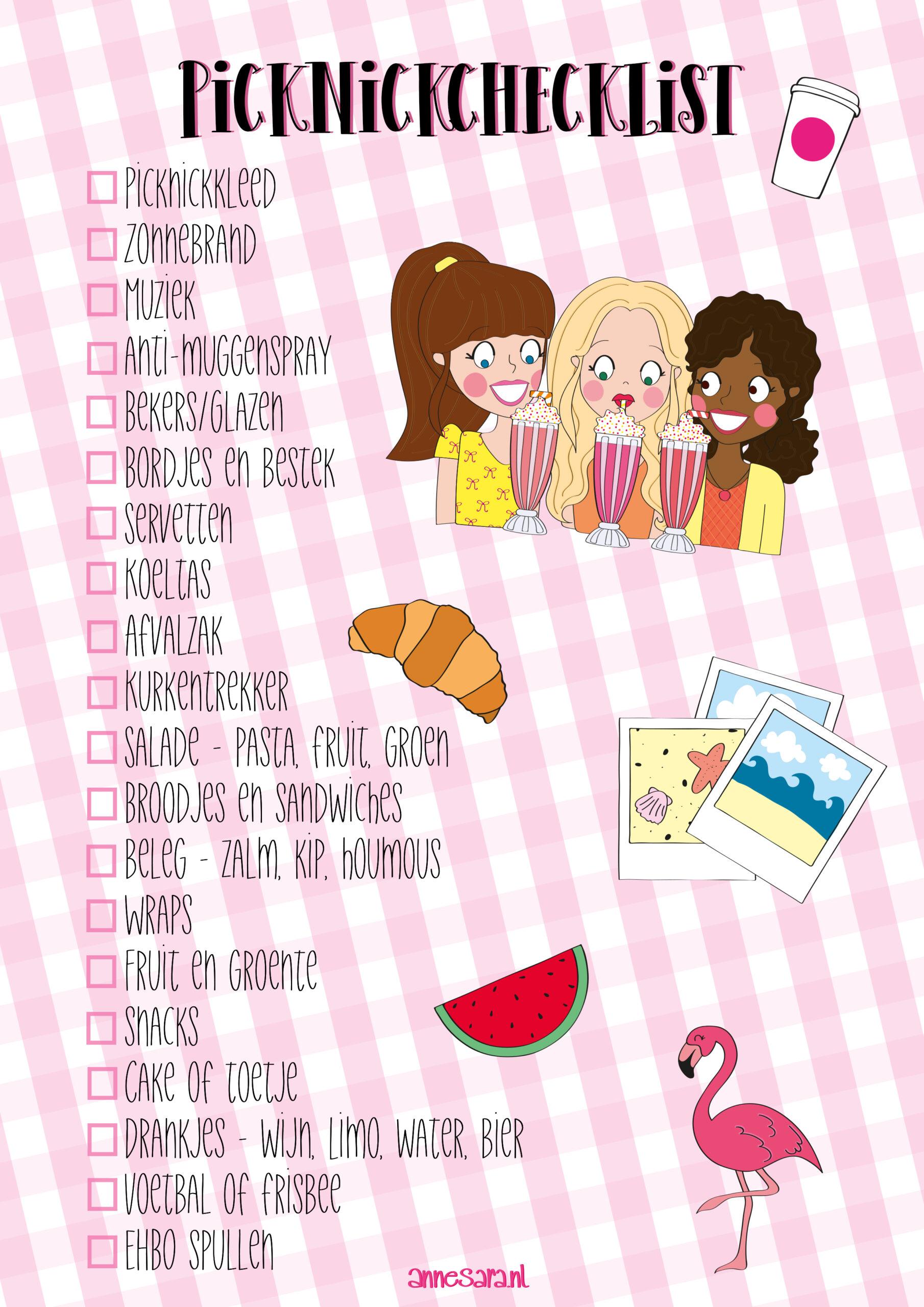Gratis Picknick checklist